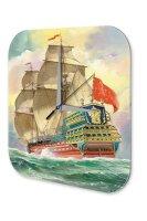 Wall Clock Travel Vintage Ship frigate sailing ship...