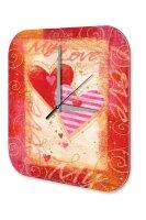 Wall Clock Birthday Congratulations Card love heart...