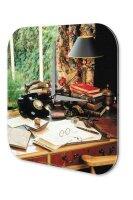 Wall Clock Secretary desk phone Printed Acryl Acrylglas...