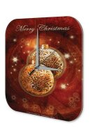Wall Clock Seasons Decoration Merry Christmas printed...