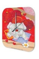 Wall Clock Fun Kitchen Decoration Elephant heart Acryl...