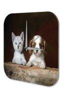 Decorative Wall Clock Vet Practice Puppy Dog Cat Acryl...