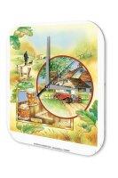 "Wall Clock Vintage Decor Adventurer England Cottage beer walk printed acryl plexiglass 10x10"""