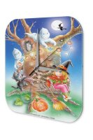 Wall Clock Seasons Decoration Halloween witch ghost...