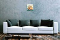 Wall Clock Oceans Decoration Sailing ship Frigate printed...