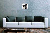 Decorative Wall Clock Vet Practice black cat white rabbit...