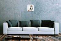 Decorative Wall Clock Vet Practice Hamster Cat Santa Hat...