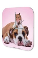 Decorative Wall Clock Vet Practice Bulldog hamster on...