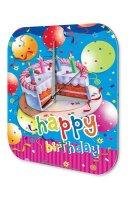 Wall Clock Fun Birthday Happy Birthday Cake Vintage...
