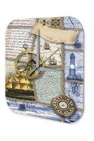 Maritime Decoration Wall Clock Sextant Sailboat Compass...