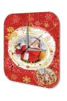 Wall Clock Christmas Decoration Santa Claus reindeer...