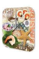 Wall Clock World Trip Fish shrimp crustaceans Decorative...