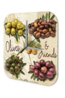 Wall Clock Holiday Travel Agency figs olives Acrylglass