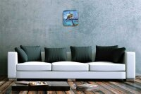 Wall Clock Kitchen Decor Zebra steppe water colors...