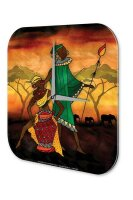Wall Clock Holiday Travel Agency African woman casserole...