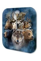 Fun Wall Clock Vintage Decoration Alaska Animals  printed...