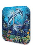 Fun Decorative Wall Clock dolphins Printed Acryl Acrylglass
