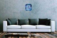 Fun Decorative Wall Clock Polar Bear Printed Acryl...