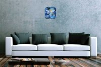 Fun Decorative Wall Clock Angel Ice Crystal Printed Acryl...