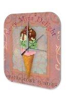 Wall Clock Retro Vintage Ice cream berry mint Printed...