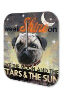 Retro Wall Clock Vintage Decor We all shine on a dogs...