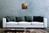 Wall Clock Kitchen Decor Field of Poppies Printed Acryl...