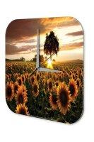 Wall Clock Plants Decoration Sunflower field sunset Acryl...