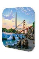 Wall Clock Holiday Travel Agency Golden Gate Bridge San...