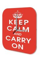 Fun Wall Clock Vintage Decor Keep Calm and Carry on crown...