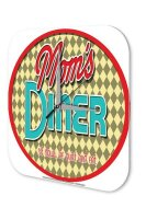 Wall Clock Nostalgic Motif Be and eat Mom s Diner Sit...