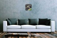 Wall Clock Space Star Moon Decoration Satellite earth...