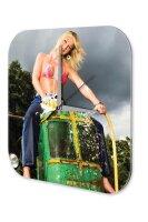 Sexy Girl Wall Clock bikini tractor Printed Acryl Acrylglass