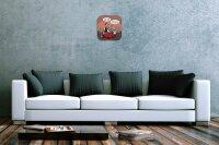 Decorative Wall Clock Fun Dogs friend Printed Acryl...