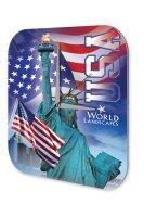 Wall Clock Holiday Travel Agency Statue of Liberty USA...