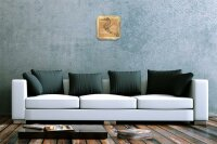 Decorative Wall Clock Vet Practice Seahorse Acryl Acrylglass