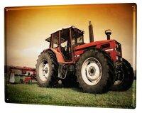 Tin Sign XXL Garage Motif Tractor