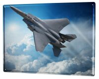Tin Sign XXL Retro Fighter aircraft