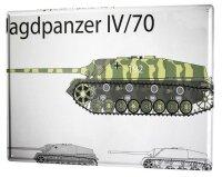 Tin Sign XXL Retro Tank destroyer