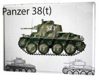 Tin Sign XXL Retro Tank 38