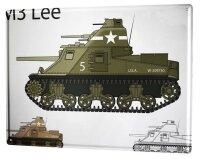 Tin Sign XXL Retro M3 Lee tank