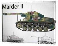 Tin Sign XXL Retro Marder II tank