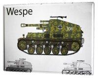 Tin Sign XXL Retro Pamzer Wespe