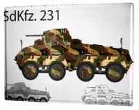 Tin Sign XXL Retro Tank SdKfz. 231
