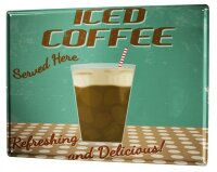 Tin Sign XXL Coffee Cafe Bar Ice coffee