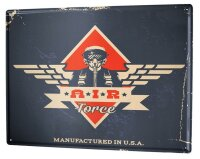 Tin Sign XXL Office Workshop Air force Vintage