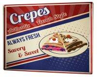 Tin Sign XXL Kitchen Crepes