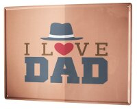 Tin Sign XXL Fun Love dad