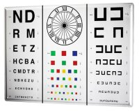 Tin Sign XXL Nostalgic Professional Eye test