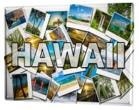 Tin Sign XXL Holiday Travel Agency Hawaii
