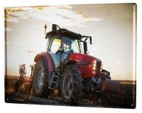 Tin Sign XXL Nostalgic Tractor Ravtive Harrow